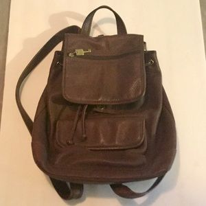 NWOT leather backpack from FOSSIL.